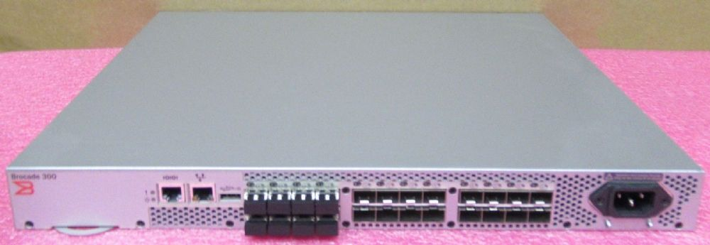 Brocade 300 24-Port 8Gb Fibre Channel SAN Switch 8 Ports Active SM-310-0000